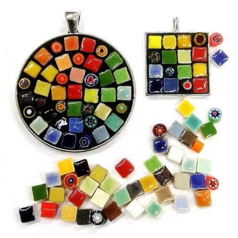Mosaiikkikorut, 2 kpl, väri hopea, DIY
