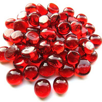 Mini Nuggets, Red Crystal, 50 g, transparent