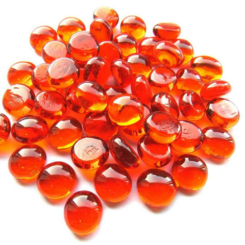 Mini Nuggets, Orange Crystal, 50 g, transparent