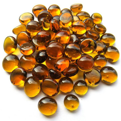 Mini Nuggets, Amber Crystal, 50 g, transparent
