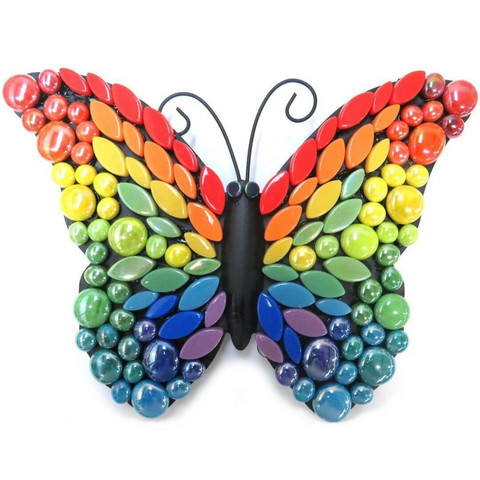 Mosaic Butterfly, Rainbow, 24 cm, DIY