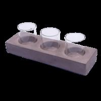Set of 3 Tealight,  24x8x4 cm