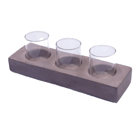 Set of 3 Tealight,  24x8x4 cm