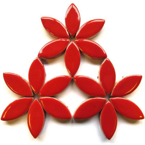 Keramiska löv, Red, 25 mm, 50 g