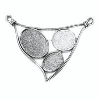 Pendant base, XL-triangle, c. silver