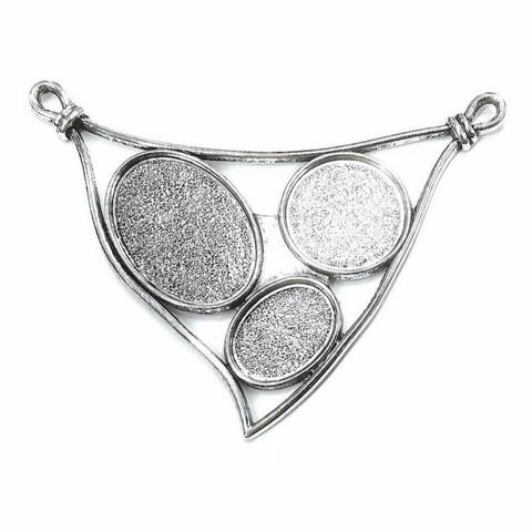 Riipuspohja, XL-kolmio, väri hopea