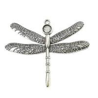 Pendant base, XL-dragonfly , c. silver