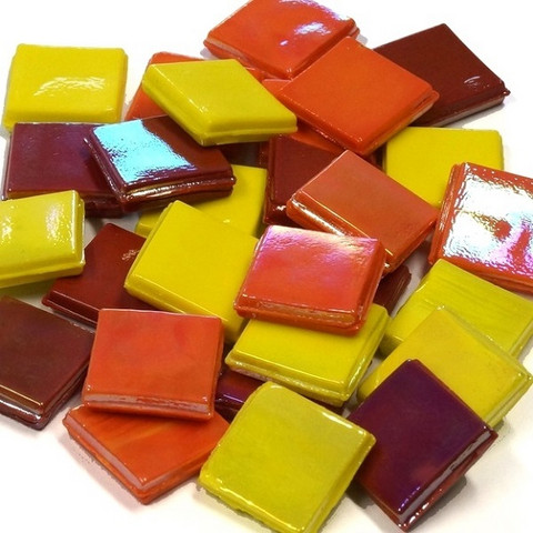 Ice Glass, Yellow-Red Mix 1 kg