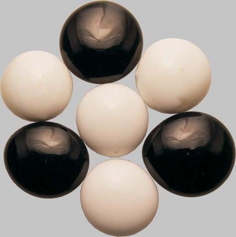 Lasihelmet, Black & White opaque, 100 g