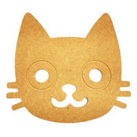 Kattens huvud, 20 cm, MDF