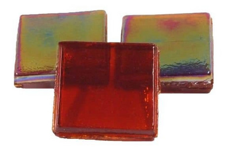 Ice Glass, läpikuultava Red, 1 kg