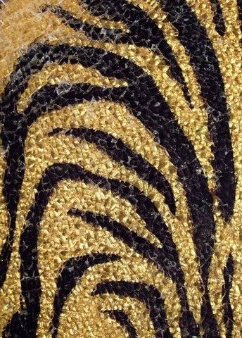 Safety Glass, Gold-Black Zebra