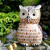 Mosaic owl, 25cm, DIY