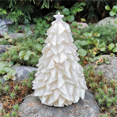 Christmas Tree, Snow, DIY, 14cm