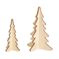 Wooden trees, 2 pcs, Height 14 cm and 10 cm