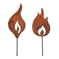 Metal flames, 2 pcs, copper