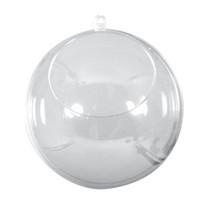 Plastic ball, two-parts, 8cm ø crystal, 1 pcs