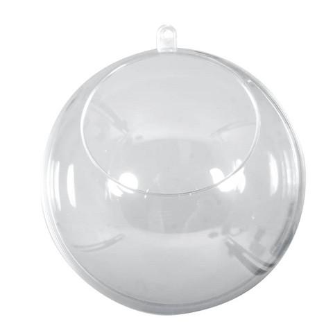 Muovipallo, kirkas 8 cm, aukolla, 1 kpl