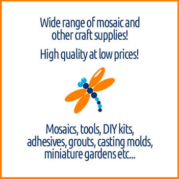 Wide range of mosaic and other craft supplies!.