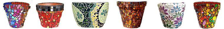 Mosaic pots.