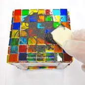 Mosaikarbete.