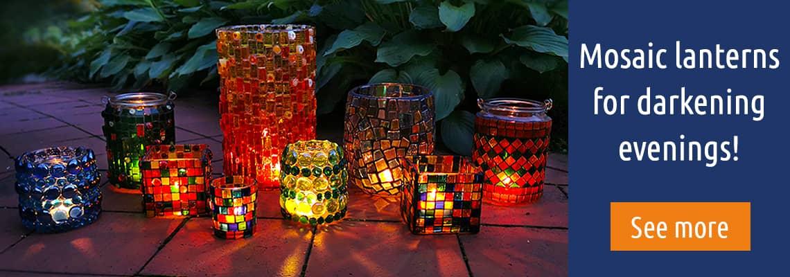 Beautiful mosaic lanterns.