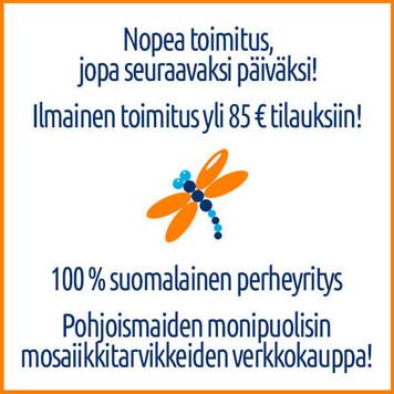 MosaiikkiMyymälän toimituskulut.