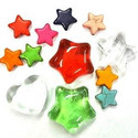 Glass stars and hearts