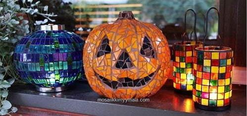 Höstens och halloween mosaik idéer.