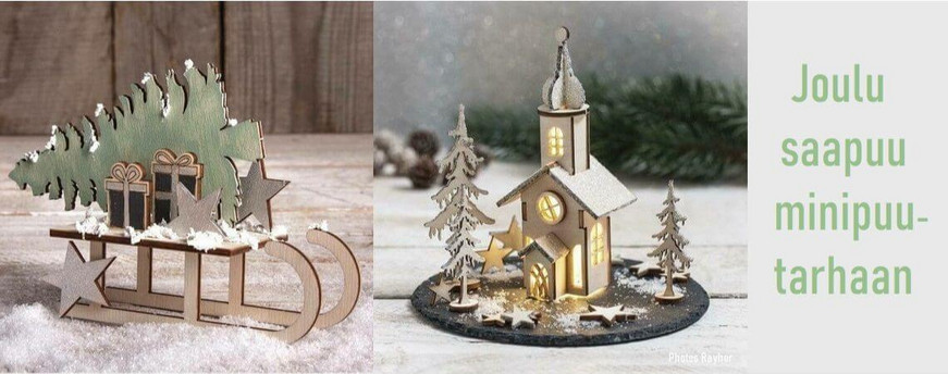 Minipuutarha jouluasetelma ideat.