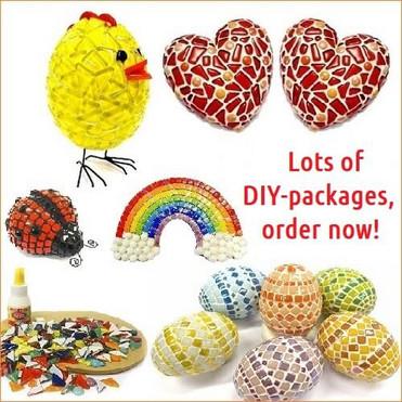 Lots of DIY-mosaic packages.