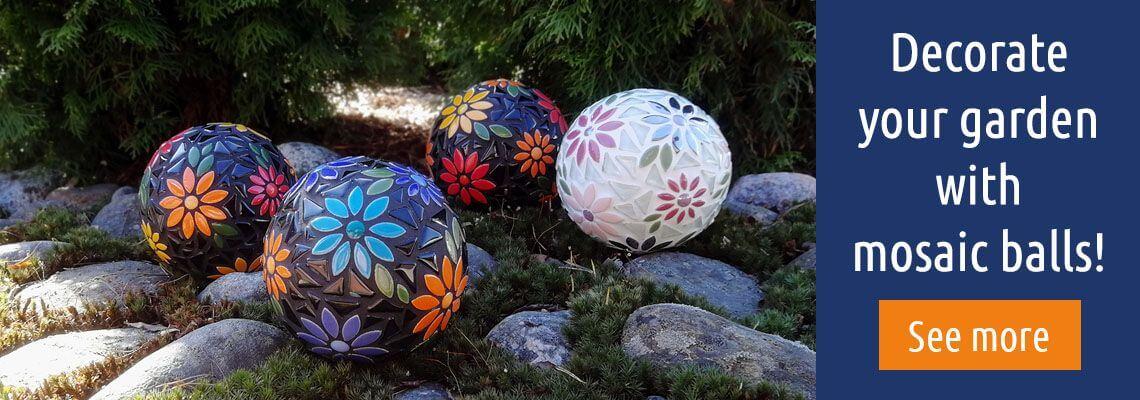 Mosaic balls to garden.