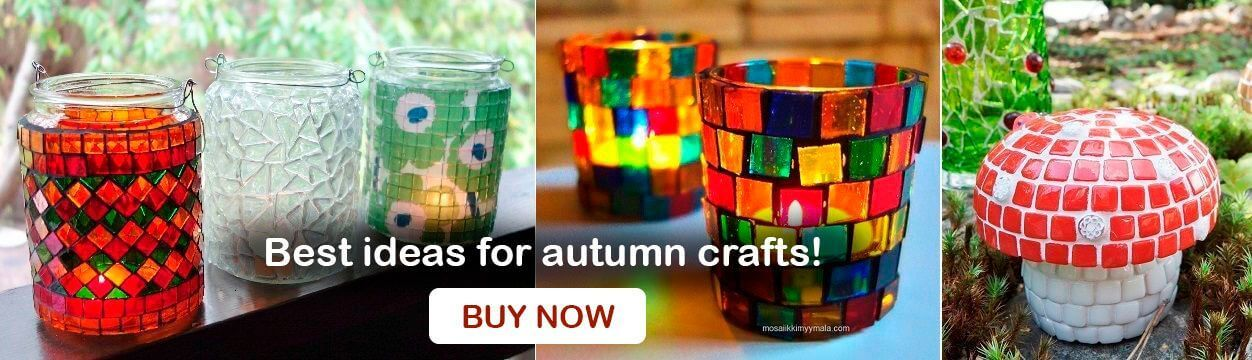 Best mosaic ideas for autumn crafts.