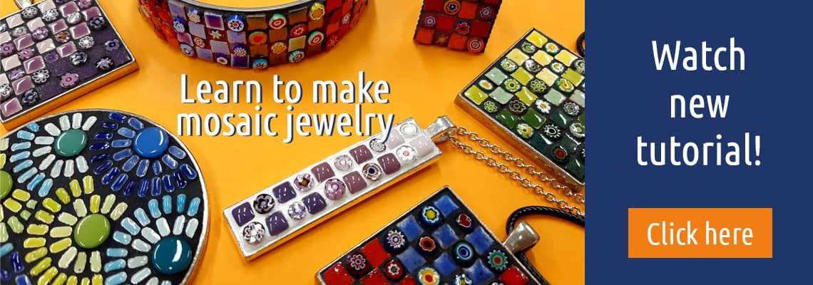 Mosaicjewelry tutorial video.