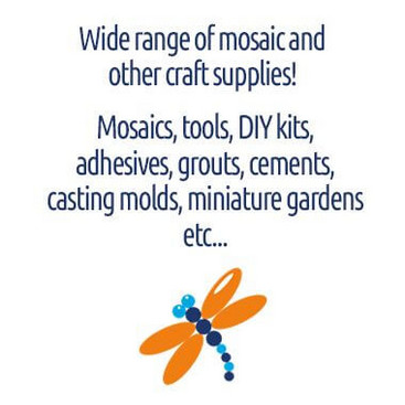 Wide range of mosaic and other craft supplies.