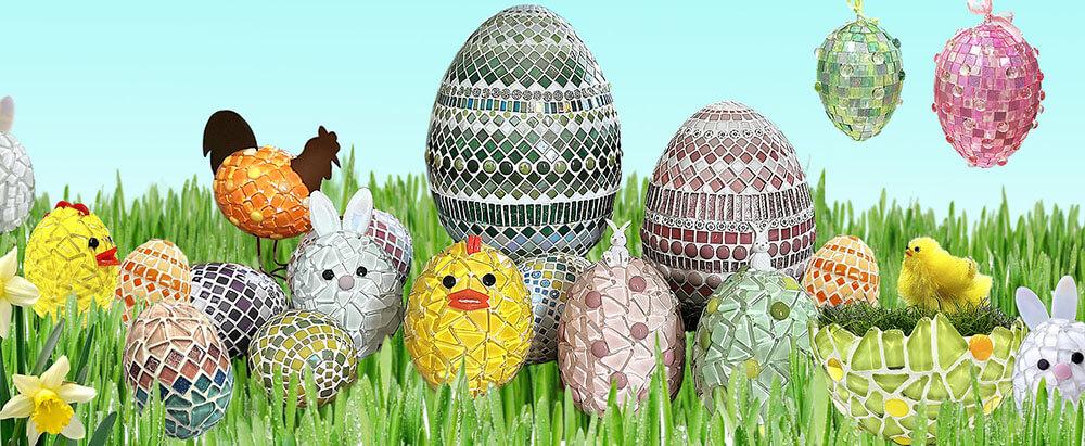 Mosaiikkikanat, -kukot, -munat ja -puput
