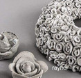 muotoilubetoni, ideakuva kukkia ja ruusukkeita