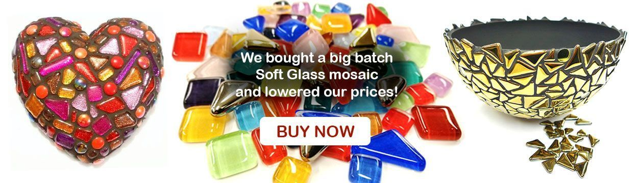 we bought a big batch Soft Glass mosaic and lowered our prices, buy now.