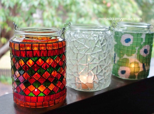 Beautiful mosaic lanterns.