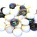 Mini Gems, Black-White, 50 g, n. 33 kpl