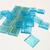 Aqua, 25 tiles, translucent