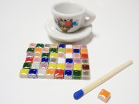 Micro Mosaic, 5x5x3 mm, Blue, 20 g