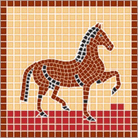 Häst, 20x 20 cm