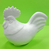 Styrofoam rooster, height 15 cm