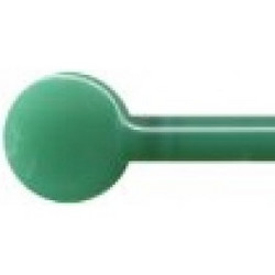 Glass rods, Verde, 2 pcs