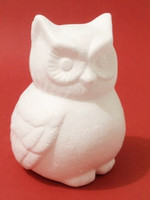 Styrofoam-owl, height 13 cm