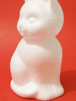 Styrofoam-cat, height 14 cm