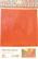 Tiffanylasi 15x20 cm, Orange, läpikuultava