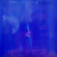 Tiffanyglas 15x20 cm, Cobalt