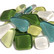 Soft Glass, Green Mix S39, 1 kg